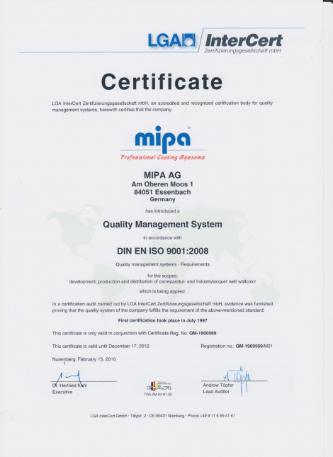 MIPA PAINT REFINISHING SYSTEM