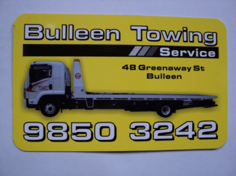 TOWING  24Hr BULLEEN TOWING