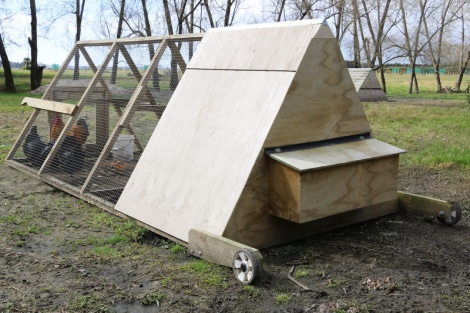 G) 4mtr Chicken Coop with Handles and Wheels