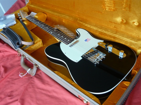 2012 FENDER '62 VINTAGE CUSTOM TELECASTER - BLACK - BRAND NEW - 100% MINT