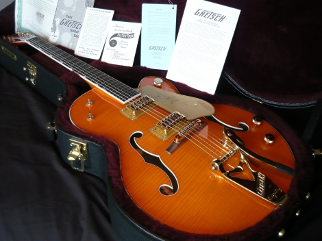 2013 GRETSCH G6120TM CHET ATKINS TIGER MAPLE FLAME