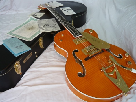 2012 GRETSCH G6120TM CHET ATKINS TIGER MAPLE