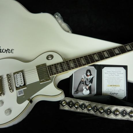 EPIPHONE KISS LES PAUL TOMMY THAYER WHITE LIGHTNING
