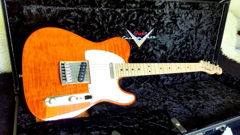 2015 FENDER CUSTOM SHOP CUSTOM DELUXE TELECASTER - Sunset Orange