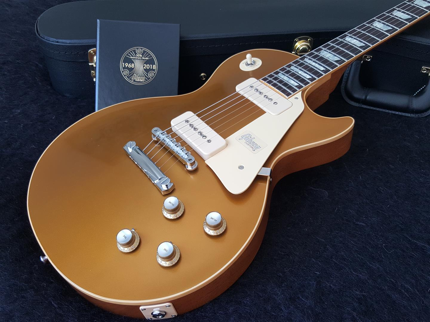 gibson 1968 les paul custom 50th anniversary gold top 60s gold vos guitars rock nz 39 s. Black Bedroom Furniture Sets. Home Design Ideas