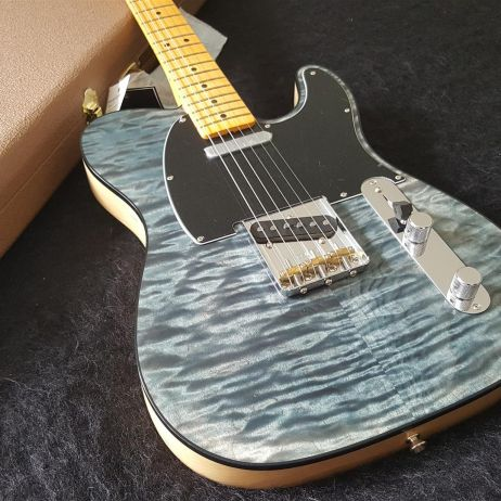 Fender 2019 Telecaster Quilt Maple Top Limited Edition - Blue Cloud