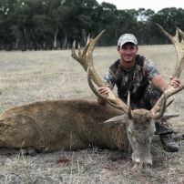 Josh joined us from texas taking this awsome red stag