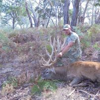 Adam with his 1st Big red stag