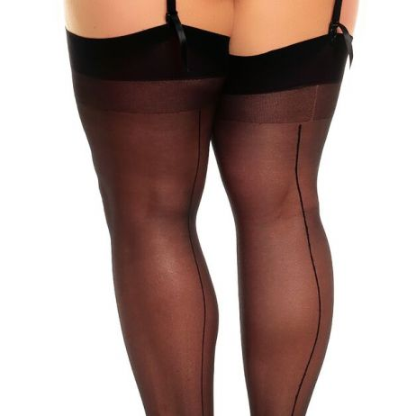 Stockings plain Black
