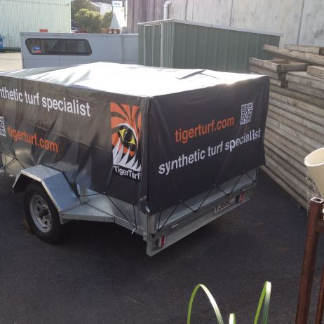 Company logo and graphics on your trailer cover