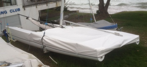 Custom fitted sailing dinghy covers