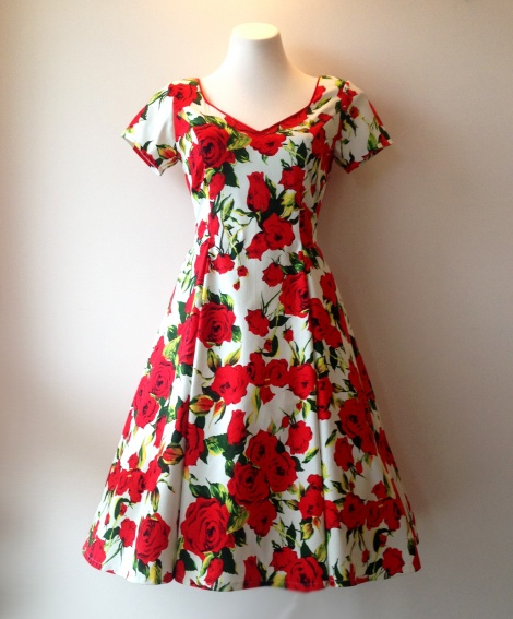 Clemintine Dress: Red Roses