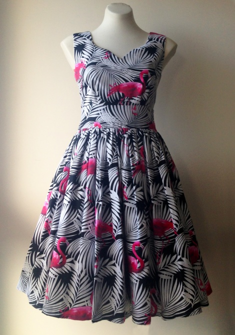 Lavinia Dress: Flamingo Party