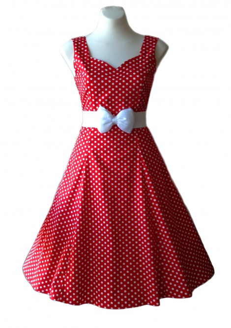 Clemintine Dress: Red & white spot