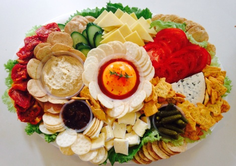 A Large Cheese Platter