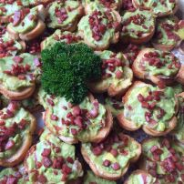 Bruschetta with Avocado and Bacon Crumb