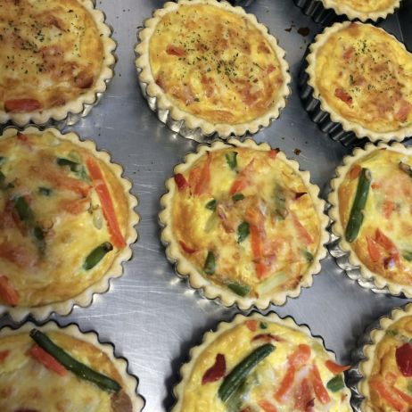 Single serve quiches