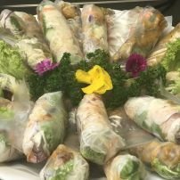 Assorted meat rice paperroll