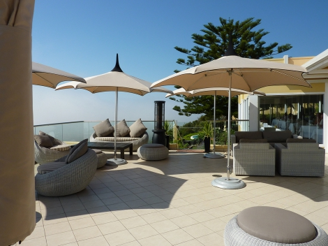 1b Outdoor furniture and umbrella's