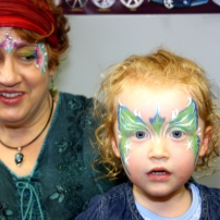The Face painting lady!!