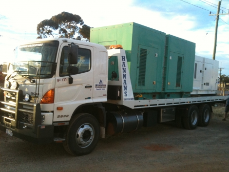 Tilt tray with gensets for Mt Ida