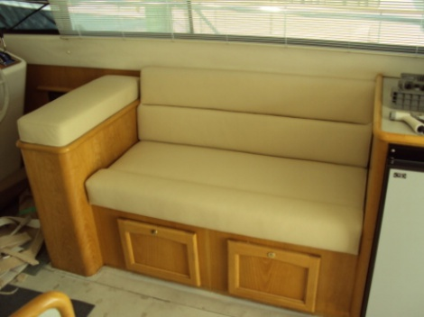 Marine - Launch Interior - Leather Upholstery