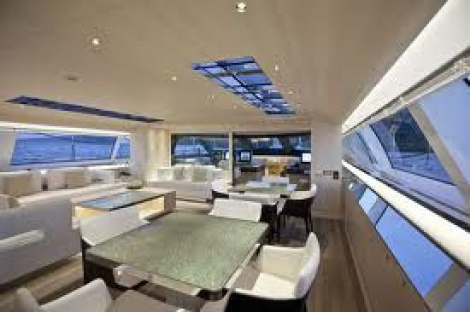 Marine - Super Yacht Interior - Leather Upholstery (Couches)