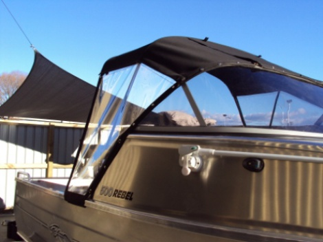 Marine - Trailer Boat - Canvas Canopy & Clear Side Curtains
