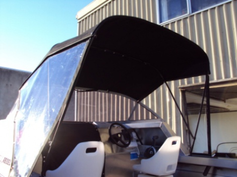 Marine - Trailer Boat - Canvas Canopy, Clear Side Curtains & Cabin Privacy Cover