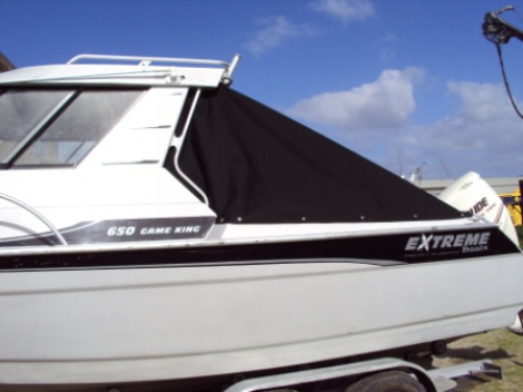 Marine - Trailer Boat - Canvas Back Drop / Road Cover