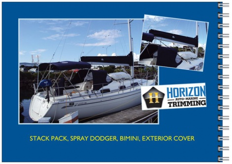 Marine Upholstery - Stack Pack, Spray Dodger, Bimini, Exterior Cover