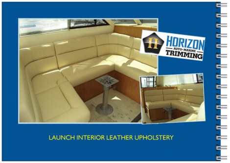Marine Upholstery - Launch Interior Leather Upholstery