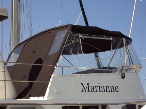 Marine Upholstery - Canopy, Side Curtains, Backdrop