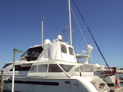 Marine Upholstery - Semi-permanent Construction Cover