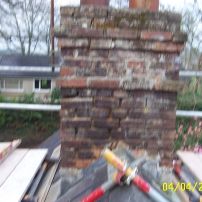 Brick Chimney Before Restoration