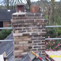 Brick chimney after restoration