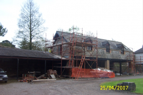 Gable wall completed