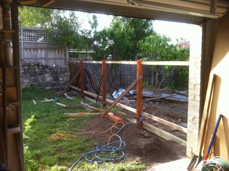 Paling fence frame