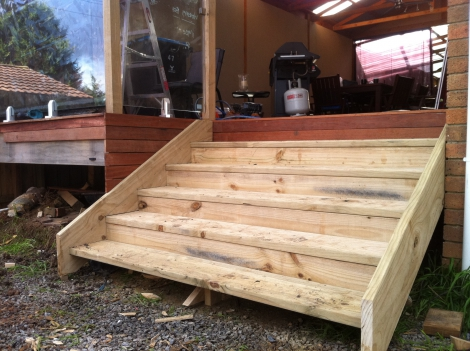 Timber Stair Case