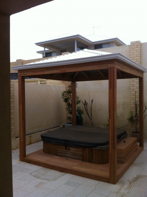 Gazebo over spa area