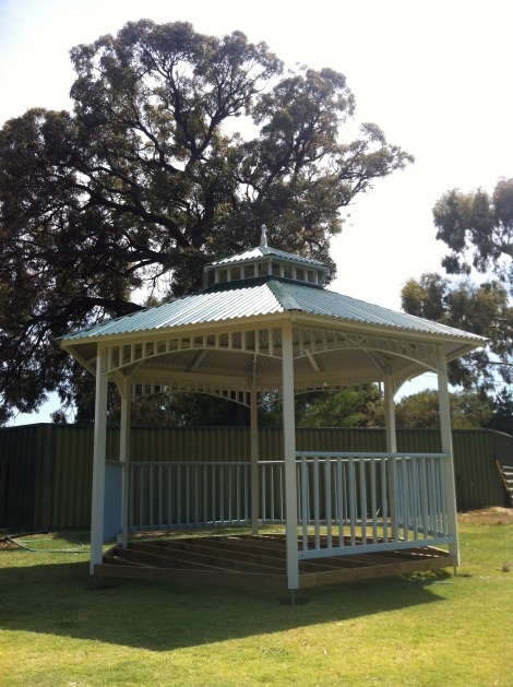 Pre-Fabricated gazebo installation