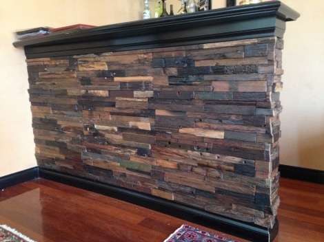recycled timber bar cladding