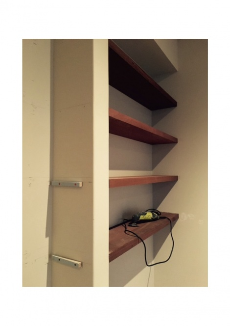 Floating Jarrah Shelves