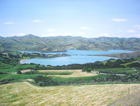 Over the Hills and Not So Far Away - Akaroa - NZ - 2012