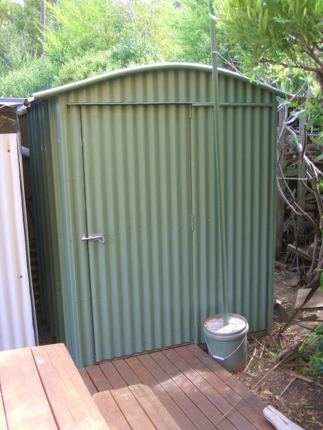 Storage Shed - recycled materials