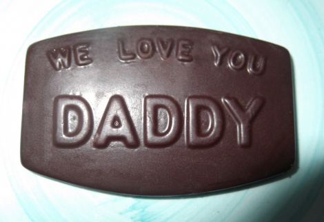 We love you Daddy chocolate plaque
