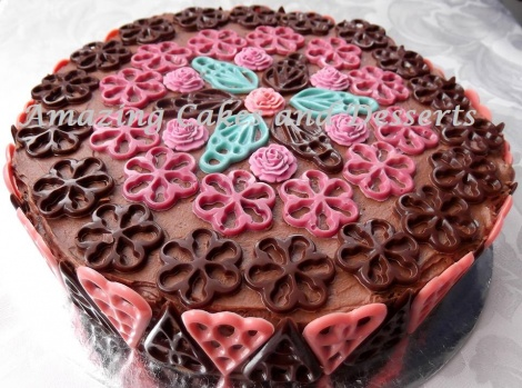Chocolate Shapes Cake