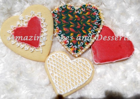 Painted Heart Biscuits