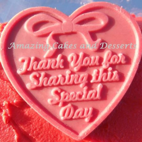 'Thank You For Sharing This Special Day' Chocolate Heart