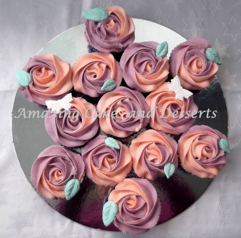 Rose cupcake bouquet